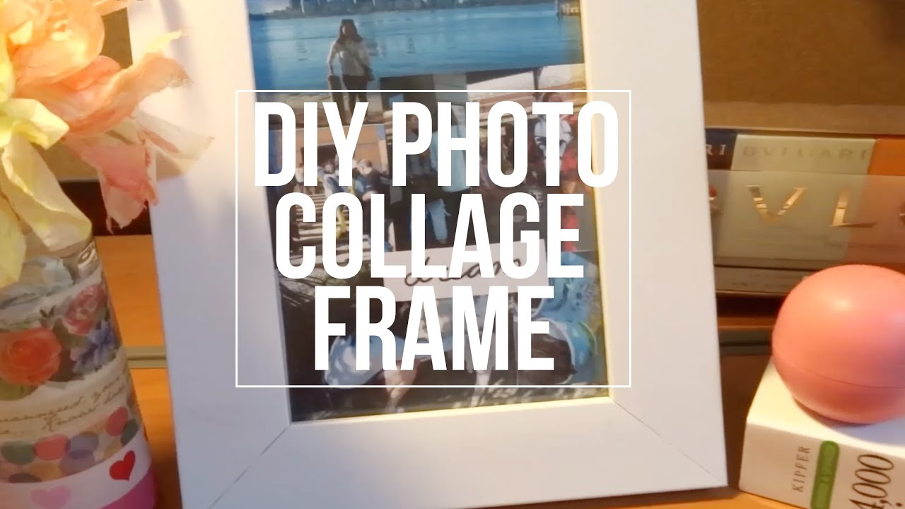 diy photo collage frameroomspiration gift ideas youtube