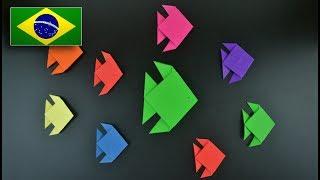 Origami: Peixe Tradicional - Instruções em Português BR