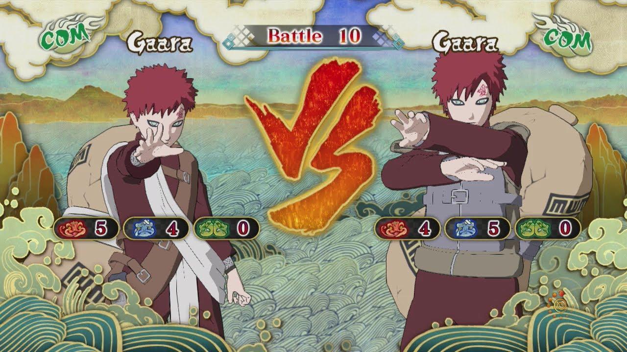naruto shippuden ultimate ninja storm 3 young gaara vs