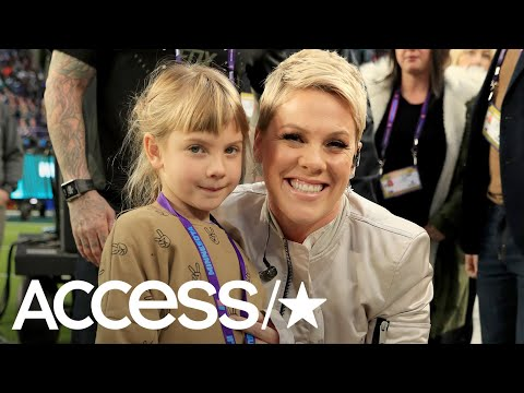 Pink's Daughter Hilariously Nods Off During Her Concert! | Access