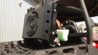 CF MOTO Z8 шноркель и вынос радиатора
