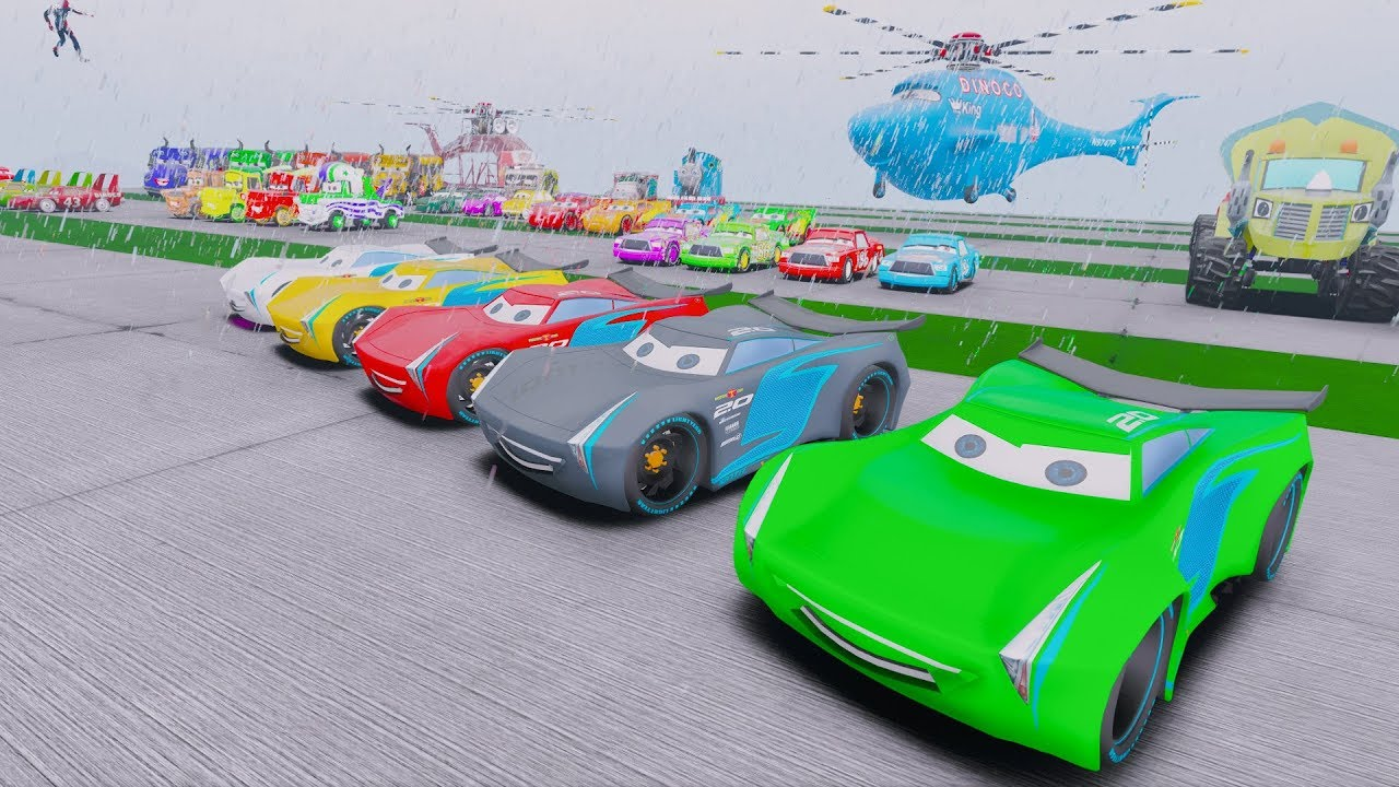 Disney Cars 3 Fabulous McQueen Stunt Colors Jackson Storm Cruz Ramirez Cars 3 Miss Fritter Mater
