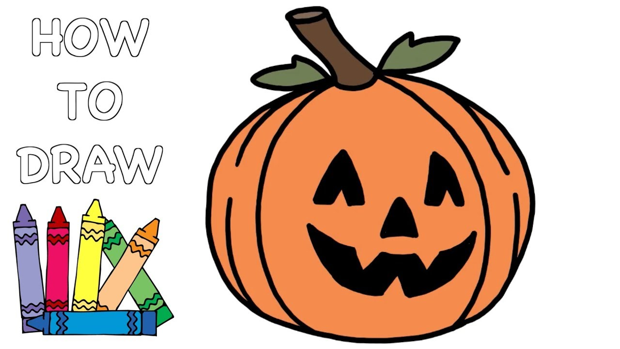 How To Draw A Pumpkin In Youtube
