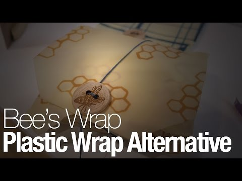 This plastic wrap alternative is made from beeswax-coated fabric