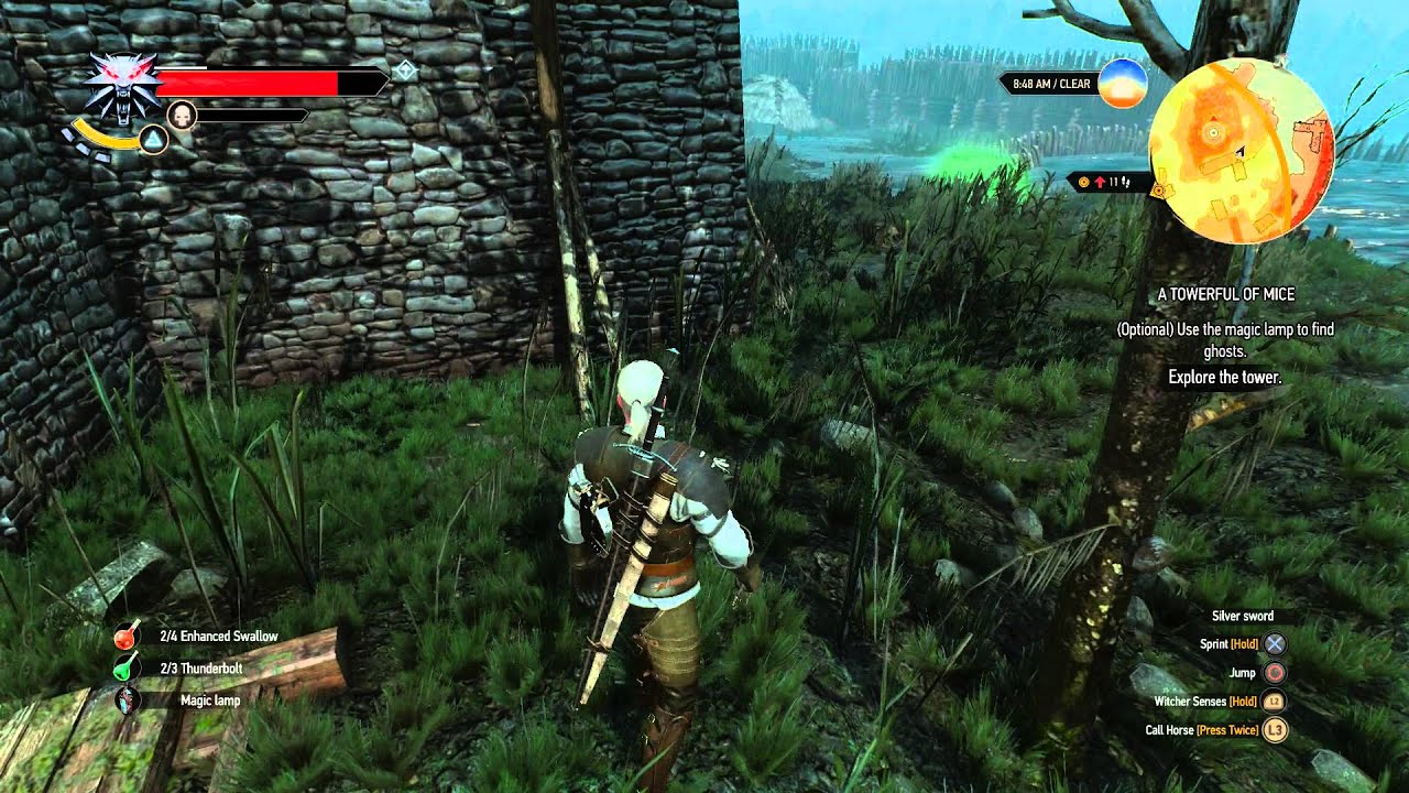 The Witcher 3 - A Towerful of Mice: Use Magic Lamp to Find Ghosts ...