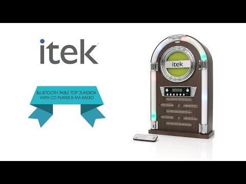iTek Table top Bluetooth CD Jukebox - YouTube