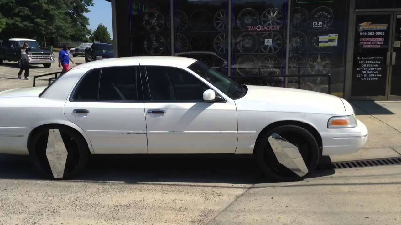 Check Out These Blade Rims On This Crown Vic At Durham NCs - 2003 crown victoria
