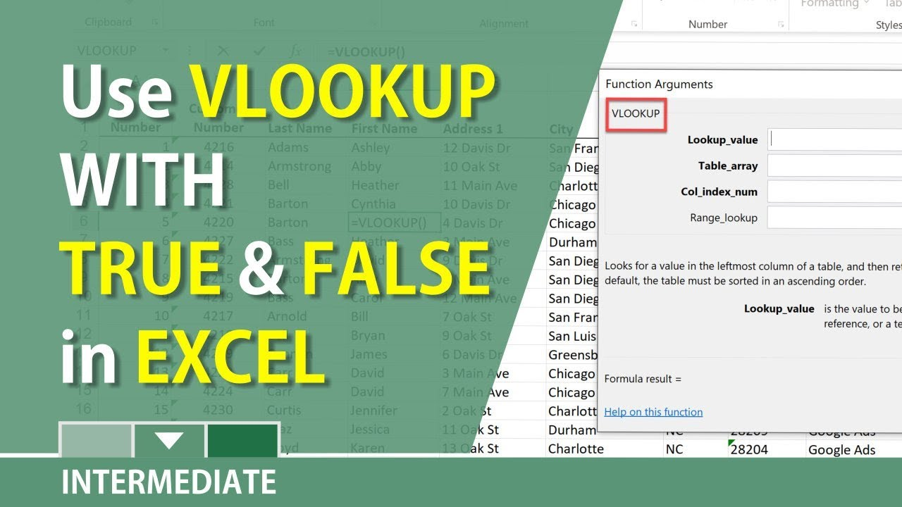 how to use vlookup in excel 2010 video