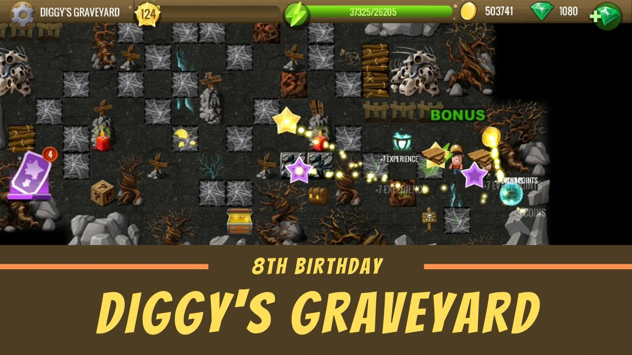 Diggys Adventure Halloween 2020 Hidden Bonuses Diggy's Graveyard   #6 8th Birthday   Diggy's Adventure   YouTube