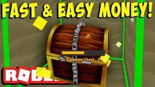 HOW TO GET MONEY FAST AND EASY (ROBLOX TREASURE HUNT SIMULATOR)