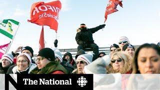 Union leaders join Saskatchewan refinery workers on picket line