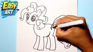 Repeat youtube video Como dibujar a pinkie pie / My little pony /How to draw my little pony