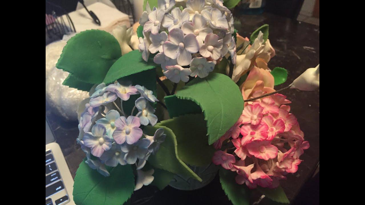 Flores para el cabello en porcelana fría - hair flowers by tallermanualperu