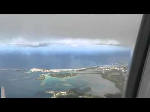 Landing at Guam Int'l Airport.