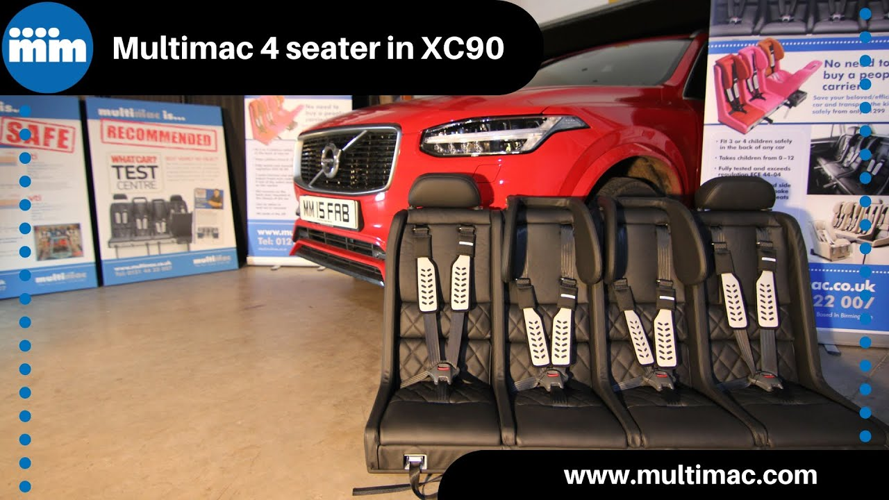Multimac How It All Works 4 Seater Child Seat In The Volvo Xc90