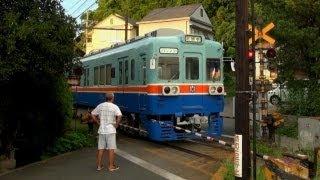 鉄道のある風景 熊本電鉄 200系の黄昏時 (16-Aug-2012) Landscape with Railway.