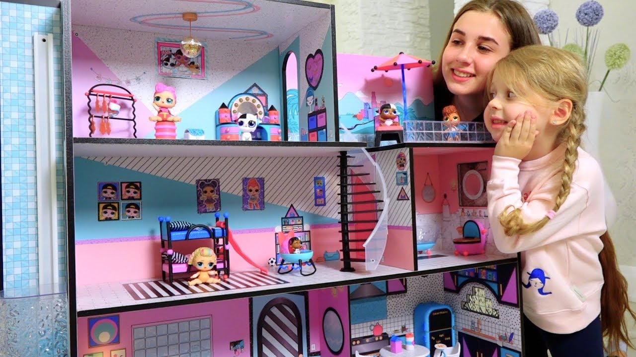 ОГРОМНЫЙ ДОМ ДЛЯ Куколок ЛОЛ! Collect LOL House - YouTube
