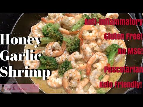 HONEY GARLIC SHRIMP RECIPE | KETO | GLUTEN FREE | NO MSG | ANTI-INFLAMMATORY | PESCATARIAN