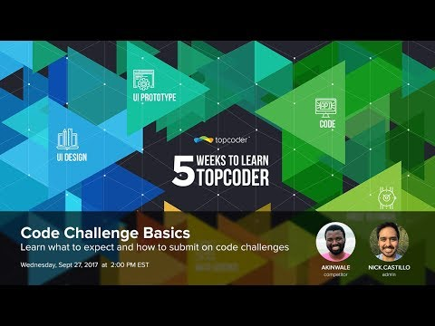 Development Workshop - 5 Weeks to Learn Topcoder w/ Akinwale