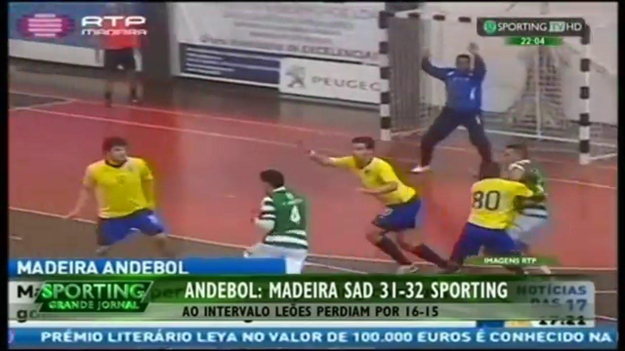 Andebol :: 07J :: Madeira Sad - 31 x Sporting - 32 de 2015/2016