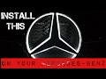 Install the Light up Star on Your Mercedes-Benz​