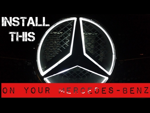 Install the Light up Star on Your Mercedes-Benz