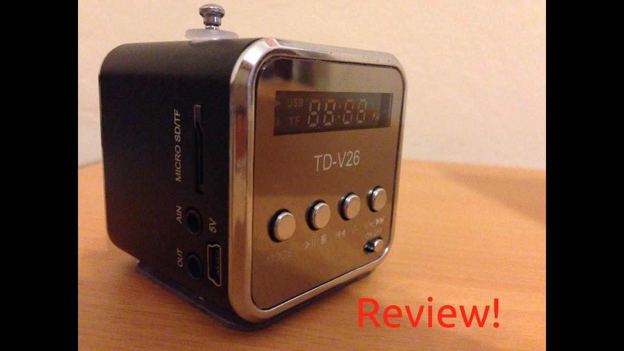 Review: TD-V26 Radio/Mini-Speaker [ENGLISH] - YouTube
