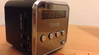 Review: TD-V26 Radio/Mini-Speaker [ENGLISH]