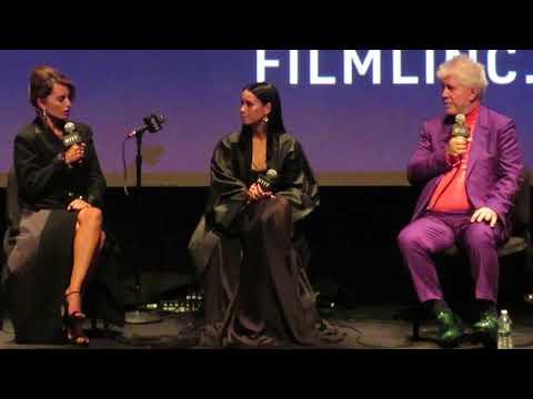 'Parallel Mothers'  Q&A part 1  NYFF 10/8/21 Pedro Almodovar, Penelope Cruz, Milena Smit