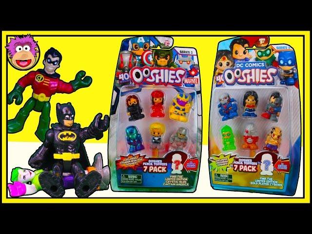 Imaginext Batman & Robin EASTER EGG HUNT! Ooshies Marvel Series 2 & DC Ooshies Series 2 - 7 Packs