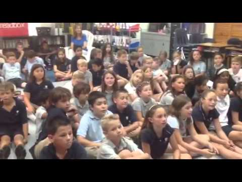 Author Chris Grabenstein visits Academy at the Lakes via Skype