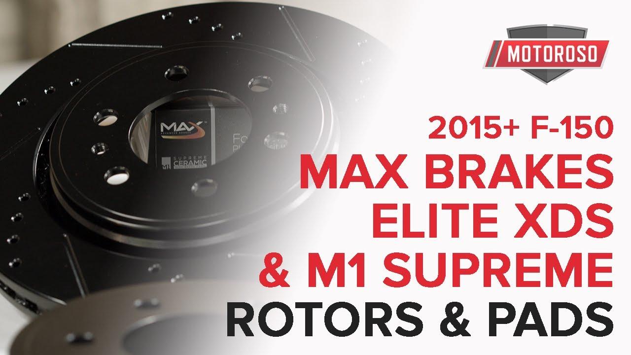 Max Brakes Front Elite E-Coated XDS Rotors and Metallic Pads Brake Kit TA052681-24