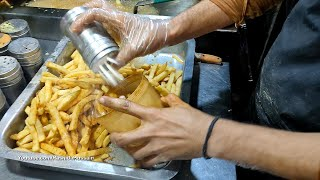 Roadside Crispy French Fries | MACDONALD'S & OPTP Flavors Pizza Fries | Pakistani Street Food
