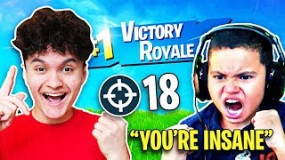 So I Carried Kaylen to a WIN on Fortnite (MindofRez's Little Brother)