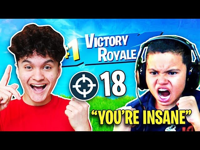 So I Carried Kaylen to a WIN on Fortnite (MindofRezs Little Brother)