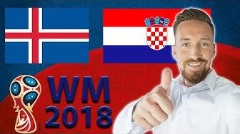 Island - Kroatien Prognose | WM 2018 Tipps