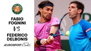 Fabio Fognini v Fedrico Delbonis   2021 Roland Garros - Round 3 Highlights   Tennis