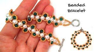 Bracelet making tutorial. Beaded bracelet. How to make bracelet