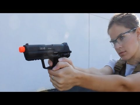 KWA HK45 Airsoft Gas Blowback Gun Pistol AirSplat OD Ep 128 from YouTube · Duration:  6 minutes 1 seconds