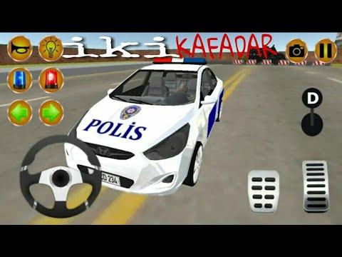 Direksiyonlu Polis Arabası Sürme Oyunu Polis Arabası Ile