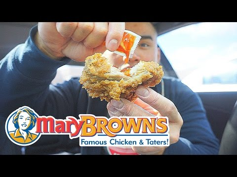 MARY BROWN'S FRIED CHICKEN   MUKBANG  QT