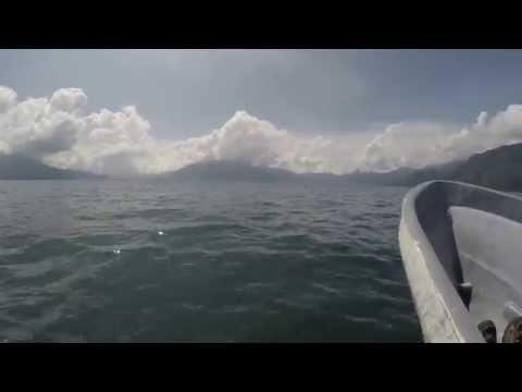 4K Video - Lago - Lake Atitlan, Guatemala Boat ride Panajachel to San Pedro - GoPro - Oct 2015