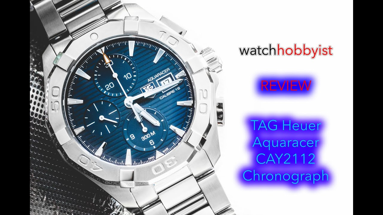half off acb4c 83ade REVIEW: TAG Heuer Aquaracer CAY2112 300M WR Chronograph with Blue Dial