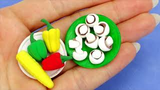 11 DIY MINIATURE FOOD BBQ REALISTIC HACKS AND CRAFTS FOR BARBIE DOLLHOUSE !!!!