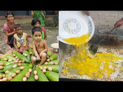 40 Gourds, Pulses & Eggs Mashed / So Tasty Village Food / Charity Food For Villagers