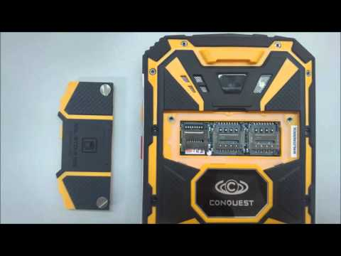 Conquest S8 Pro IP68 Rugged Phone Unboxing - Military Standard MIL-STD-810G Compliant