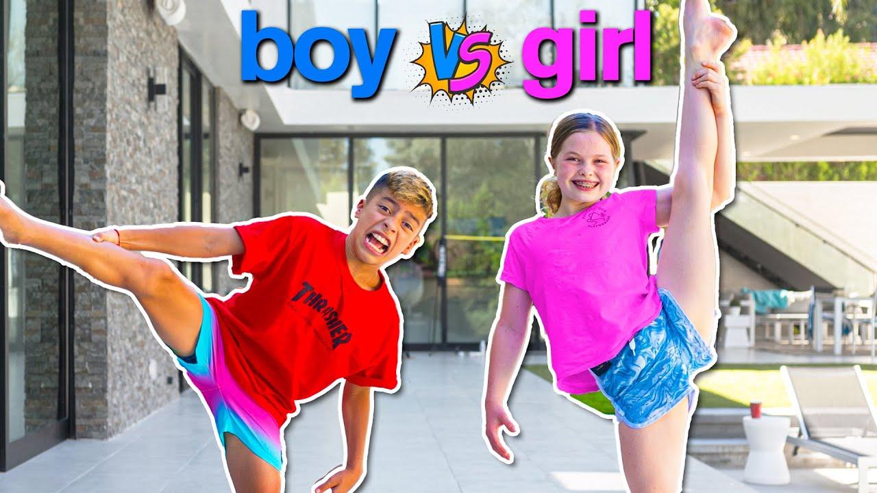 Download BOY vs GIRL Gymnastics & Strength Challenge ft/ Royalty Family