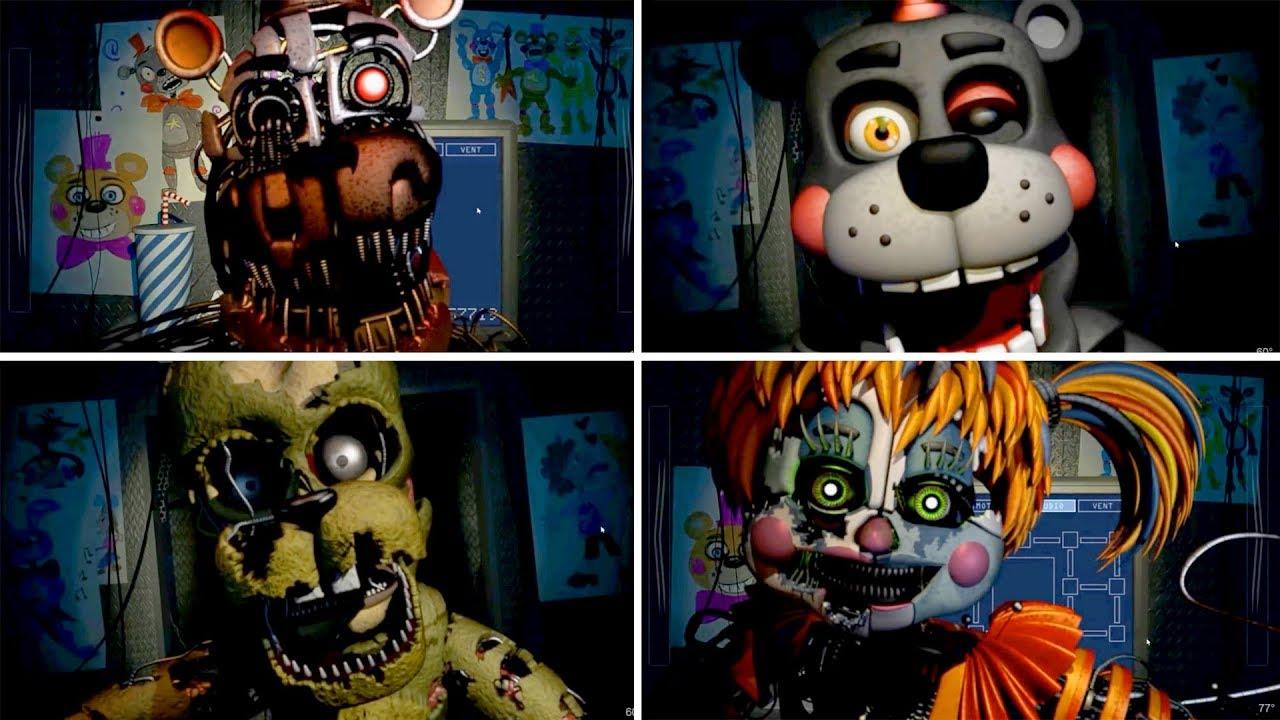 All FNAF 6 Jumpscares: FNAF Pizzeria Simulator (Five Nights at Freddy's 6  Jumpscare)