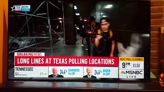 Rachel Maddow comments on insanely long lines at polls in TX Voter suppression evidence., From YouTubeVideos