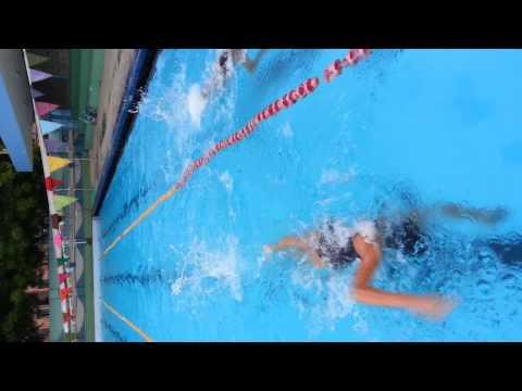 Trisha Bhayana freestyle swimming